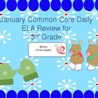 3rd Grade Common Core ELA & Grammar Daily Review- January
