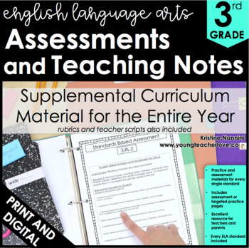 3rd Grade Common Core ELA/Literacy Assessments and Teaching Notes *ALL STANDARDS
