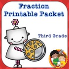 3rd Grade Common Core Fraction Packet with a Robot Theme