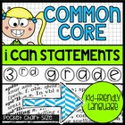 "3rd Grade Common Core ""I Can"" Kid-Friendly Statements {hal"