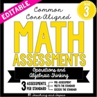 3rd Grade Common Core Math Assessment -Operations and Alge