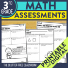 3rd Grade Common Core Math Assessment Packet {Data Noteboo