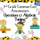 3rd Grade Common Core Math Assessments- Operations & Algeb