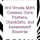 3rd Grade Common Core Math Packet (zebra print)