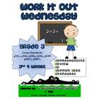 3rd Grade Common Core Math Review:  Work it Out Wednesday