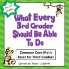3rd Grade Common Core Math Tasks