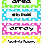 3rd Grade Common Core Math Vocab Cards