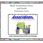 3rd Grade Common Core Math Vocabulary Game