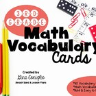 3rd Grade Common Core Math Vocabulary Word Wall Cards