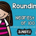 3rd Grade Common Core NBT.1 Rounding: Math Tasks, Exit Tic