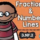 3rd Grade Common Core NF.2 Fract./Number Lines: Math Tasks