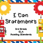 "3rd Grade Common Core Reading - ""I Can"" Learning Targets - Robots"