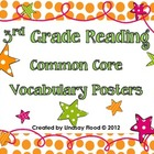 3rd Grade Common Core Reading Vocabulary Posters