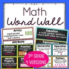 3rd Grade Common Core Standards Math Vocabulary