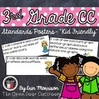 3rd Grade Common Core Standards Posters- &quot;Kid Friendly&quot;