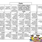 3rd Grade Common Core- Summer Calendar