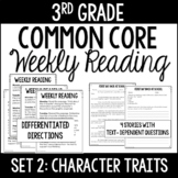 3rd Grade Common Core Weekly Reading Review {Set 2: Charac