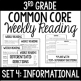 3rd Grade Common Core Weekly Reading Review {Set 4: Inform