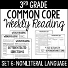 3rd Grade Common Core Weekly Reading Review {Set 6: Nonlit