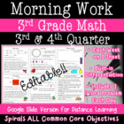3rd Grade Daily Math Morning Work 3rd and 4th quarter prac