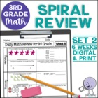 3rd Grade Daily Math Spiral Review Weeks 7-10 - FREE - Wee