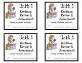 3rd Grade Everyday Math: Unit 1- Routines, Review and Asse