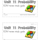 3rd Grade Everyday Math: Unit 11 Probability Review Study Guide