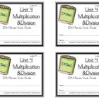 3rd Grade Everyday Math: Unit 4  Multiplication &amp;Division 