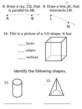 3rd Grade Everyday Math Unit 6 Review