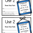 3rd Grade Expressions Math: Unit 2 Review Study Guide- Mul