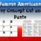 3rd Grade Famous Americans-Key Concept Cut and Paste