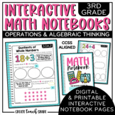 3rd Grade Interactive Math Notebook - Operations & Algebra