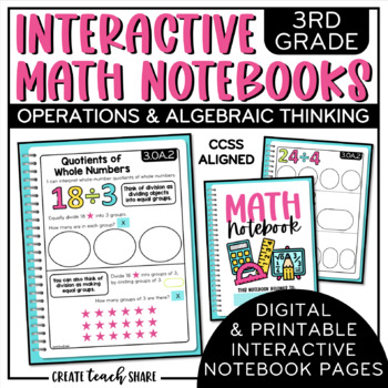 3rd Grade Interactive Math Notebook - Operations & Algebraic Thinking