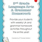 3rd Grade Lang. Arts & Grammar Homework Pack (Activities f