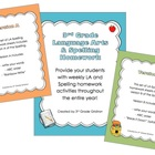 3rd Grade Lang. Arts & Spelling Homework Pack (Activities