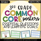 3rd Grade MATH Common Core {Essential Questions & Learning
