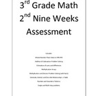 3rd Grade Math 2nd Nine Weeks Assessment
