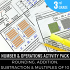 3rd Grade Math Activity Pack: Rounding, Addition & Subtraction