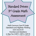 3rd Grade Math Assessement - OA.1, OA.3, NBT.1, NBT.2, NBT