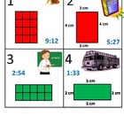 3rd Grade Math Calendar - Area, Perimeter, Time, Mass