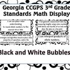 3rd Grade Math Common Core Standards-Black/White Bubble Posters
