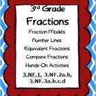 3rd Grade Math - Fractions -  Common Core Domain 3.NF