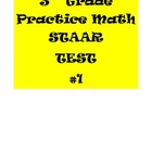 3rd Grade Math Practice STAAR Test #1