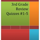 3rd Grade Math Review Quizzes #1-5