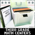 3rd Grade Math TEST Prep Task Cards & Games - BUNDLE Sets 1-5