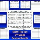 3rd Grade Math Tic-Tac-Toe Game-Comprehensive Review-EOY FUN!!