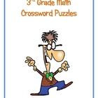 3rd Grade Math Vocabulary Crossword Puzzles