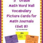 3rd Grade Math Vocabulary Picture Cards for Math Journals (Set B)