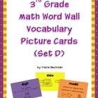 3rd Grade Math Word Wall Vocabulary Picture Cards (Set D)