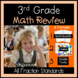 Fractions - Review Game for 3rd Grade Common Core Test Prep